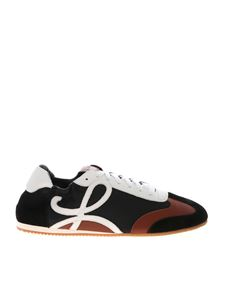 Loewe - Sneakers nere bianche e cuoio