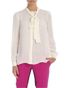 Michael Kors - Silk shirt in cream color with bow