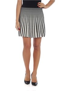 Kenzo - White and black miniskirt with geometric pattern