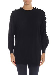 Kenzo - Pullover with ruffles in black