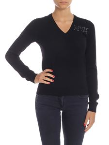 N° 21 - Pullover in black with logo detail