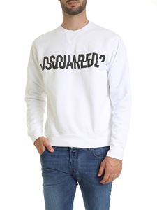 Dsquared2 - Sweatshirt in white with Dsquared2 logo