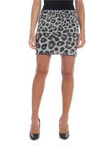 Alberta Ferretti - Animal printed miniskirt in black