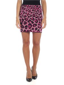 Alberta Ferretti - Animal printed miniskirt in black and fuchsia