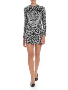 Alberta Ferretti - Save Me animal printed dress in black