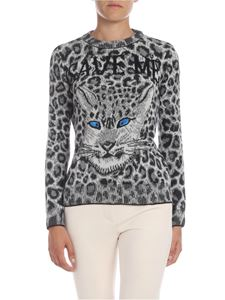 Alberta Ferretti - Save Me animal printed pullover in black