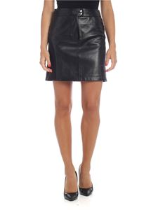 Alberta Ferretti - Flared mini-skirt in black leather