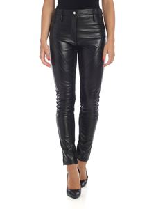 Alberta Ferretti - Black leather trousers