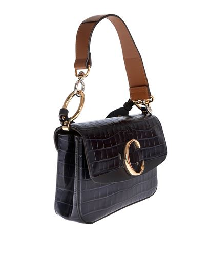 36e9f5bf59 Chloé C small double carry bag in Full Blue
