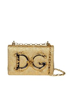 Dolce & Gabbana - DG Girls shoulder bag with gold baroque motif