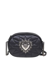 Dolce & Gabbana - Matelassé Devotion camera bag in black
