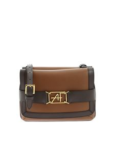 Alberta Ferretti - Brown shoulder bag with logo detail