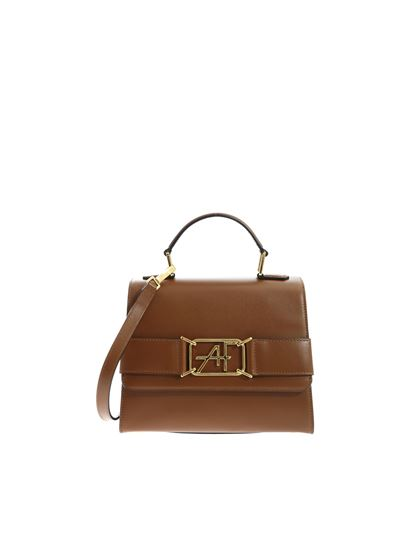 Alberta Ferretti - Brown handbag with logo