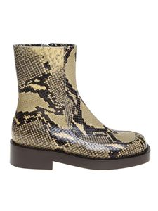 Marni - Boots in animal-printed leather