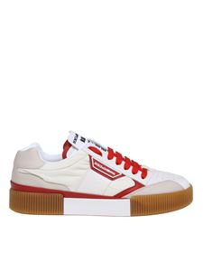 Dolce & Gabbana - Miami sneakers in white fabric and leather