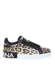 Dolce & Gabbana - Animal printed Portofino sneakers