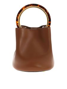 Marni - Pannier handbag in leather color