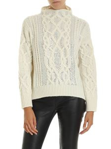Ermanno Scervino - Braided pullover in cream color