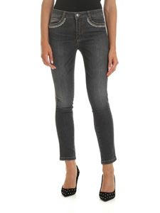 Ermanno Scervino - Jeans in gray with applied rhinestones