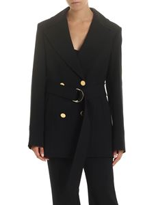 Stella McCartney - Long double-breasted jacket in black