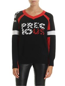 Ermanno Scervino - Precious V-neck pullover in black
