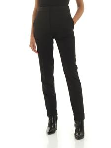 Stella McCartney - Trousers in black with turned-up bottom