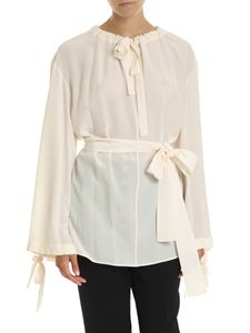 Stella McCartney - Blouse with belt in pink peach
