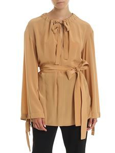Stella McCartney - Blouse in beige with belt