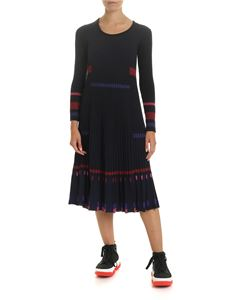 Kenzo - Ribbed dress in black and blue