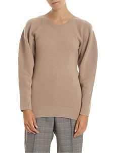 Stella McCartney - Crew-neck pullover in beige with raglan sleeves