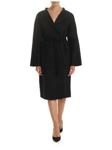 Max Mara - Lilia coat in black with shawl collar