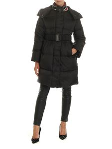 Ermanno Scervino - Down jacket in black with knit collar