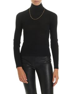 Alexander Wang - Turtleneck sweater in black with necklace