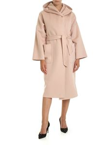 Max Mara - Marilyn coat in pink with hood