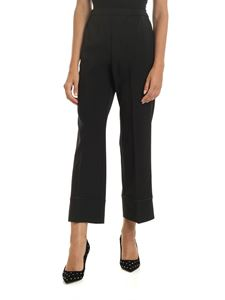 N° 21 - Trousers in black with tone on tone rhinestones
