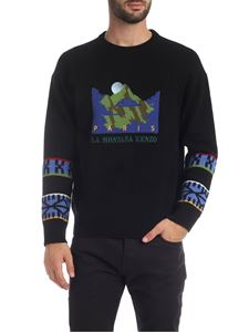 Kenzo - Pullover in black with Mountain embroidery