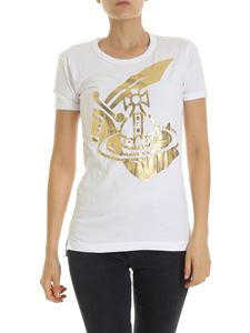 Vivienne Westwood Anglomania - Arm & Cutlass white crew neck T-shirt