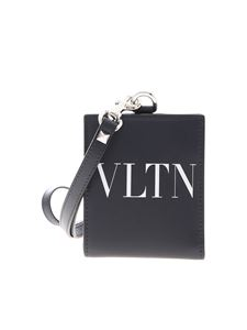 Valentino - Leather wallet in blue