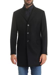 Fay - Benjamin coat in dark blue wool