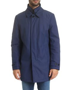 Fay - Morning coat in avio blue color