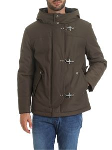 Fay - 3 Ganci hooded down jacket in green