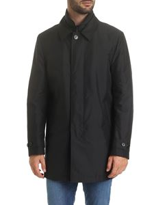 Fay - Morning padded  coat in black with logo