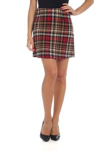 be Blumarine - Miniskirt in red and beige tartan