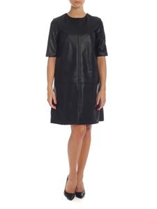 be Blumarine - Black short sleeve dress in eco-leather