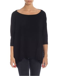 be Blumarine - Black sweater with lace details