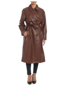 be Blumarine - Brown trench coat in eco-leather