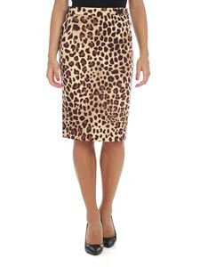 be Blumarine - Beige skirt with animal print
