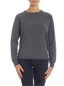 Kangra Cashmere - Gray pullover with sequin patches