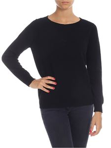 Kangra Cashmere - Black pullover in wool and cashmere