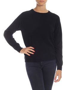 Kangra Cashmere - Black pullover with sequin patches
